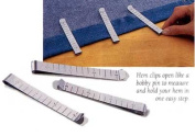 7.6cm STAINLESS STEEL RULER HEM CLIPS - SET OF 6