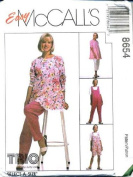 McCall's Sewing Pattern 8654 Misses' Maternity Tunic, Jumpsuit in 2 Lengths & Pants in 2 Lengths, Size B