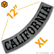 CALIFORNIA US STATE REFLECTIVE PATCH BIKER JACKET RIDER VEST ROCKER BIG 30cm WIDE