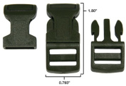 25cm - 1.6cm Olive Drab Green Economy Contoured Side Release Plastic Buckles