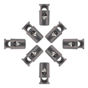 10 - Cord Barell Locks with Head Black Plastic