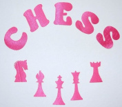 Fabric Glitter Sequin Chess Set Iron-On Fabric Transfer