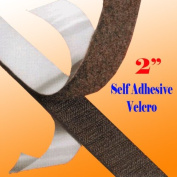 """2"""" (50mm) X (3,5,10,20) Yards Black Self Adhesive Hook and Loop 50mm Sticky on Tape [5 Yards (15 Ft)]"""