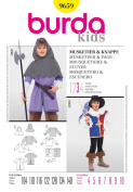 BURDA 9659 CHILD'S MUSKETEER COSTUME (SIZE 4-10) SEWING PATTERN