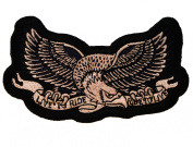 Live to Ride to Live Eagle Biker Motorcycle Rider Iron on Patch D6