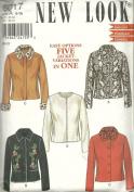 New Look 6017 Jacket Pattern Size 6-16