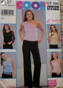 New Look 6137 - Jr. Misses One Shoulder Top Pants Pattern Size A