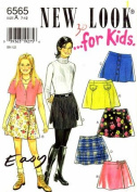 New Look 6565 Sewing Pattern Girls Mini Skirts Size 7 - 12
