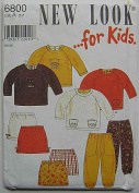 New Look 6800 Sewing Pattern ~ Children's, Girl's Skirt, Pants, Top, Kitty Applique, Sizes 2-7