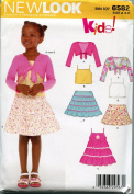 New Look Sewing Pattern 6582 Size A (3-8) Children's Tops, Skirts, Jackets and Dress