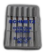 Schmetz Sewing Machine Chrome Finish Needle ELX705CF-80