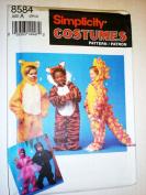Simplicity Costume Pattern Child's Lion, Tiger, Dinosaur, Monkey 8584