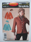 Simplicity Pattern 2808 Misses' Jacket and Hat Sizes 8-8