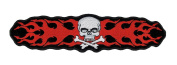 Flaming Skull & Crossbones Motorcycle Back Patch
