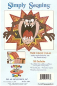 Looney Tunes Tazmanian Devil - Simply Sequins Iron-On Kit - No 6259