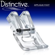 Distinctive Applique Clear Sewing Machine Presser Foot - Fits All Low Shank Snap-On Singer*, Brother, Babylock, Euro-Pro, Janome, Kenmore, White, Juki, New Home, Simplicity, Elna and More!