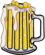 Novelty Iron on - 50's Retro Beverages Mug of Beer Logo Patch