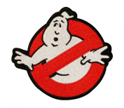 GhostBusters No Ghost Logo Embroidered Iron On Applique Patch 18cm