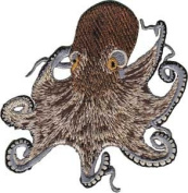 Novelty Iron on Patch - Animal Kindom Brown Octopus