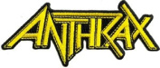 Anthrax Rock Music Band Patch - Yellow Diecut Name Logo