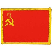 International World Countries Rectangle Flag Iron On Patch - Soviet Union USSR Applique