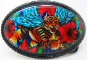 BuckleUSA Tiger With Wings Belt Buckle Multicoloured One Size