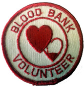 Blood Bank Volunteer Novelty Iron On Patch Applique