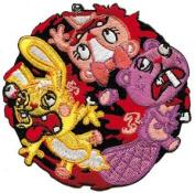 Happy Tree Friends Cartoon Patch - 7.6cm Bloody Death Roll