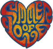 Novelty Iron on Patch - 60's Retro Summer of Love Hippie Patch Logo