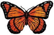 3.8cm Black & Orange Monarch Butterfly Animal Patch