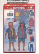 Butterick Child's Shirt, Top, Shorts, Pants and Hat Sewing Pattern #5564
