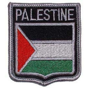 Novelty Embroidered Iron on Patch - International Flag Sheild Collection - Palestine Crest Applique