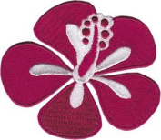 Novelty Iron On Patch - Flowers - Red Hibiscus - Logo Patch - Applique