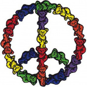 Rockabilia Grateful Dead Bear Peace Sign Embroidered Patch