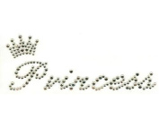 Clear Rhinestones Little Princess Prince Iron On Hot Fix Applique