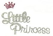 Clear Rhinestones Little Princess Prince Iron On Hot Fix Applique