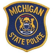 USA Emergency Services Embroidered Iron on Patch - 50 State Police Collection - Michigan State Police Applique