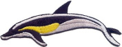 5.1cm Bliue, Yellow & White Swiming Dolphin Animal Patch
