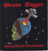 GRAVE DIGGER-HEAVY METAL BREAKDOWN-WOVEN PATCH