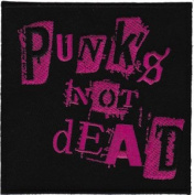 Novelty Iron On Patch - Punk - Punk is not Dead Logo Patch - Applique