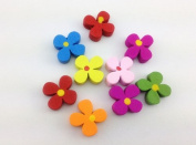 100pcs Mixed Wooden Buttons in Bulk Buttons for Crafts Mixed Buttons Flowers Bu-72