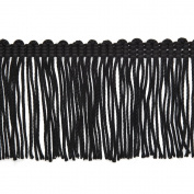 15cm Vintage Chainette Fringe, by 2-yards, Black, NB-1724-6