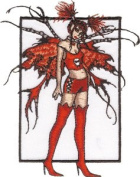 Amy Brown Artist Patch - Catastrophe Red Sexy Fairy Logo