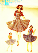 Authentic Patterns #281 - Ladies' Squaredance Dress Pattern