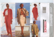 Butterick 4502 Misses' Jacket, Top, Skirt & Pants, Size 8 10 12