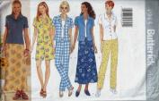 Butterick 4943 Misses'/Misses' Petite Top, Skirt, Shorts & Pants, Size 18 20 22