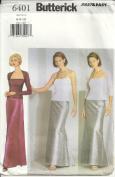Butterick 6401 Misses' Formal Top, Skirt, Shrug, Size 6 8 10