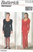 Butterick 6555 Misses' Cocktail Dress, Size 6 8 10