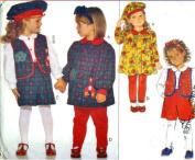 Butterick Sewing Pattern 3648 Toddler Dress, Vest, Blouse, Shorts, Leggings & Beret, Size 2 3 4