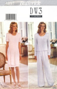 Butterick Sewing Pattern 3897 Misses' Dress, Top & Pants, Size 16 18